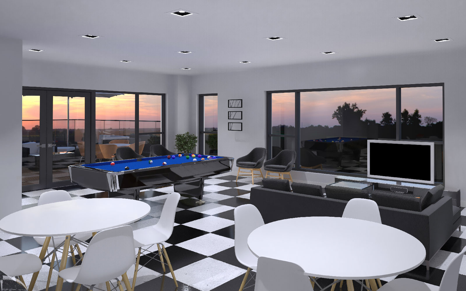 game room condos aviva luxury west island condo